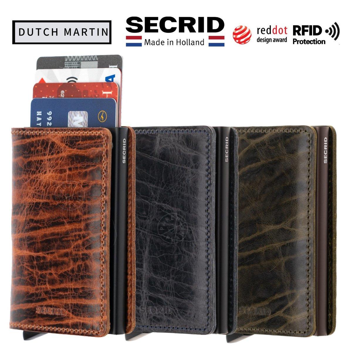 RFID Slimwallet - Dutch Martin Nightblue | Birthday Gift | Father's Day Gift