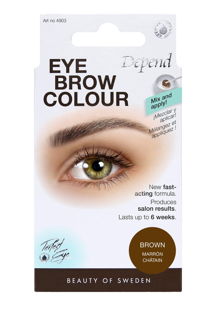(Depend) Eyebrow colour  Brown