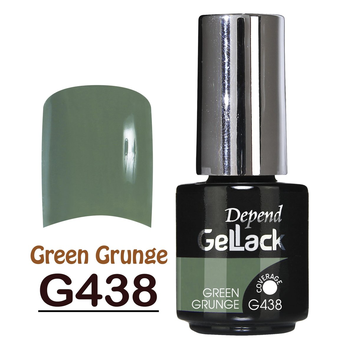 Gellack nr 438 5ml - Green Grunge