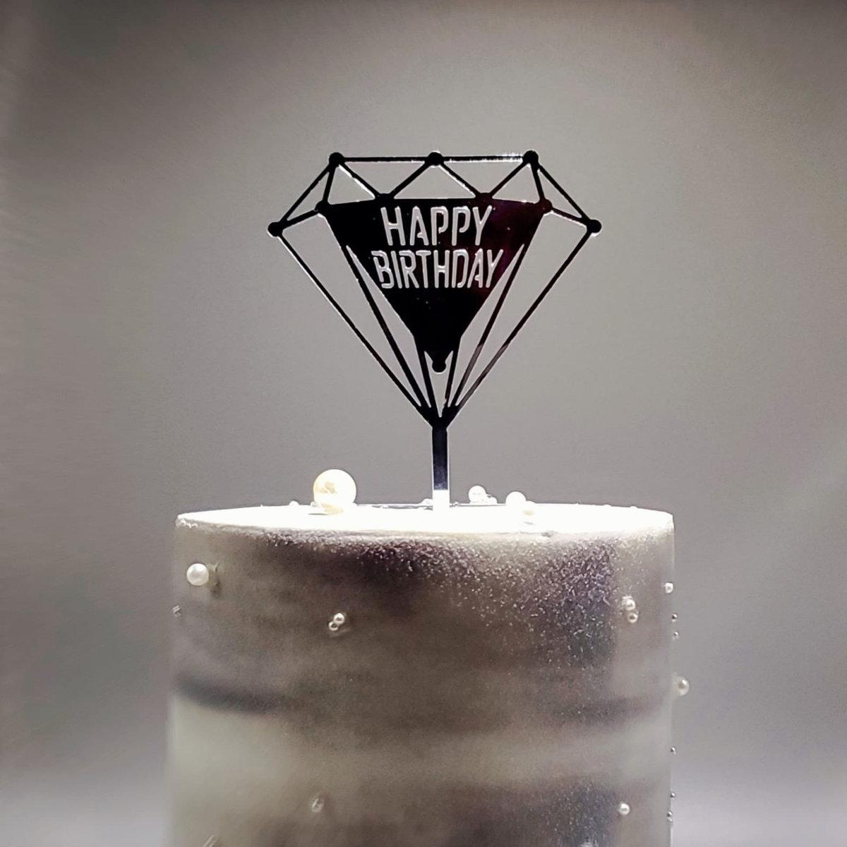 9 Cake Topper 鑽石 Happy Birthday
