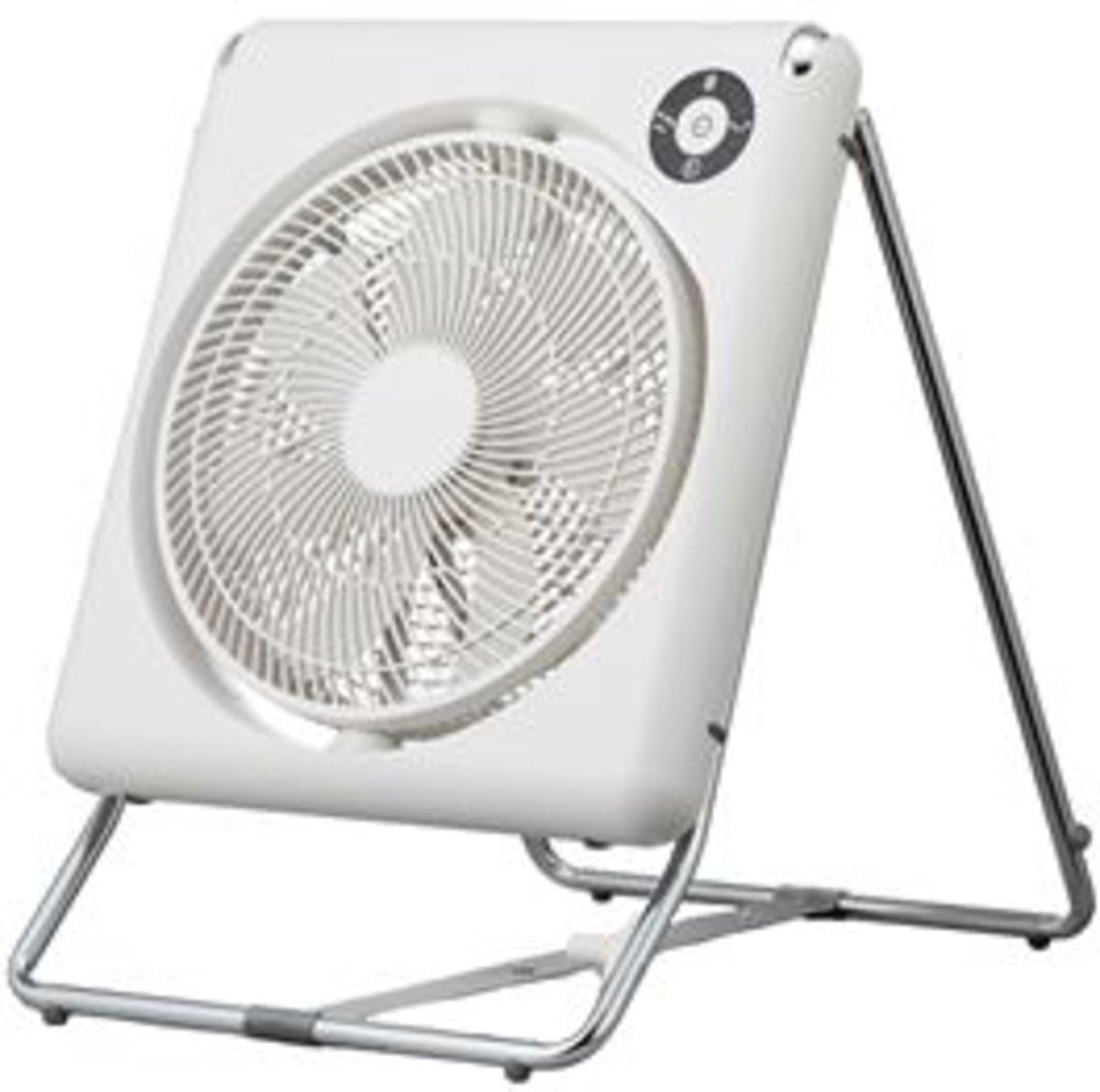 "FLU-254DHK/W Multi-directional Compact DC Folding Fan (10"" / 25cm)"