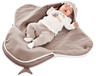 Baby blanket Coco -Sharky taupe