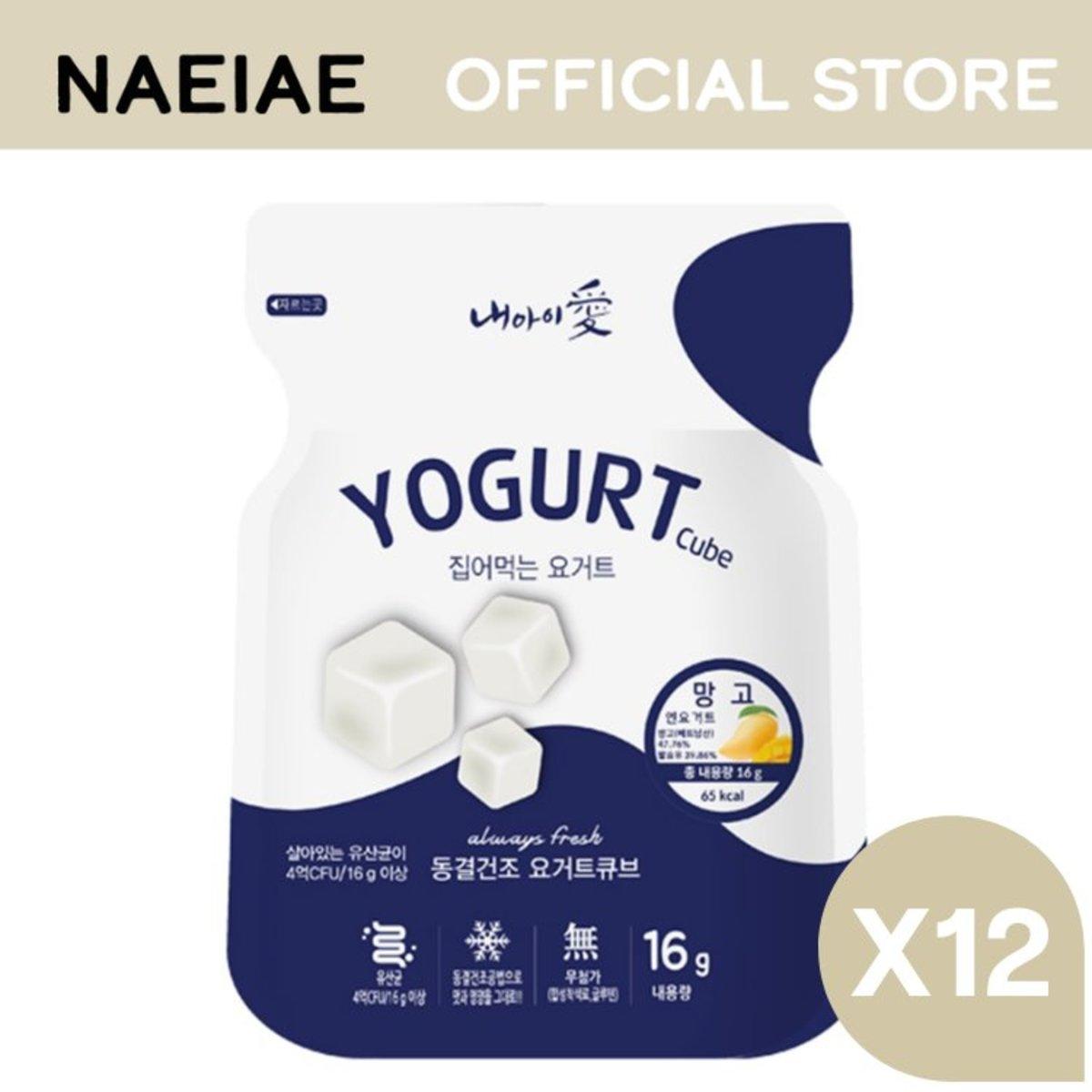 Naeiae 凍乾乳酪粒 - 芒果 16g X12包