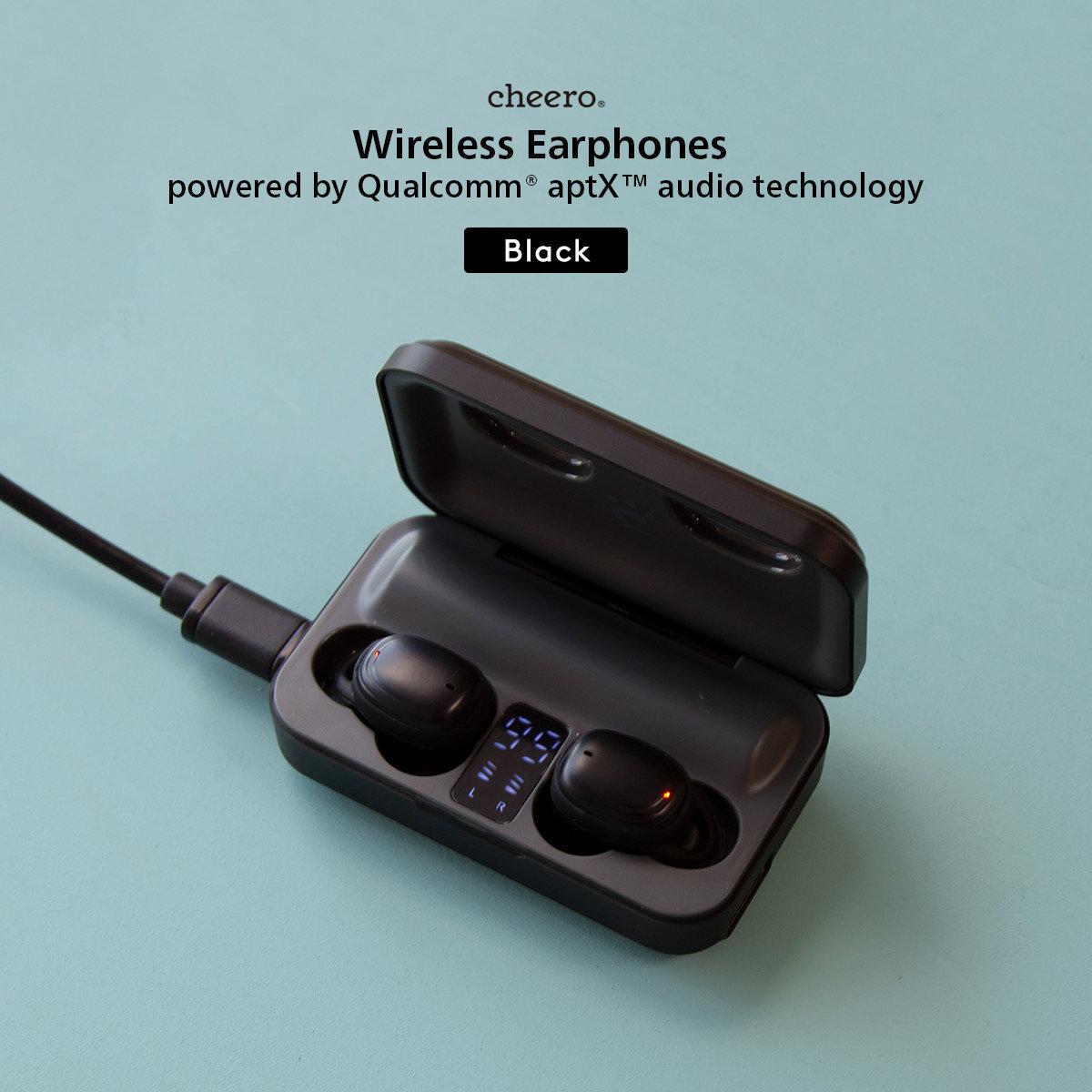 True wireless earphone powered by Qualcomm - Black (AAC/ aptX / BT5.1/ 2200mAh / IPX5)