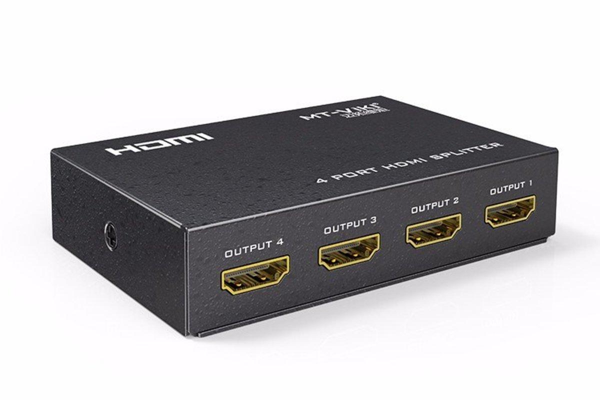 4路迷你超高清HDMI分配器 MT-SP104M