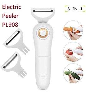 EASYTALK PL908電動手持削皮器/切片機3合1套裝廚房工具