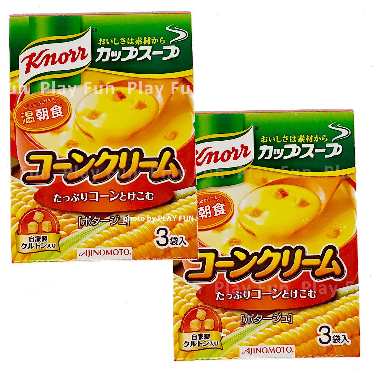 粟米湯 3包裝 x 2盒 (紅) (4901001135714_2)