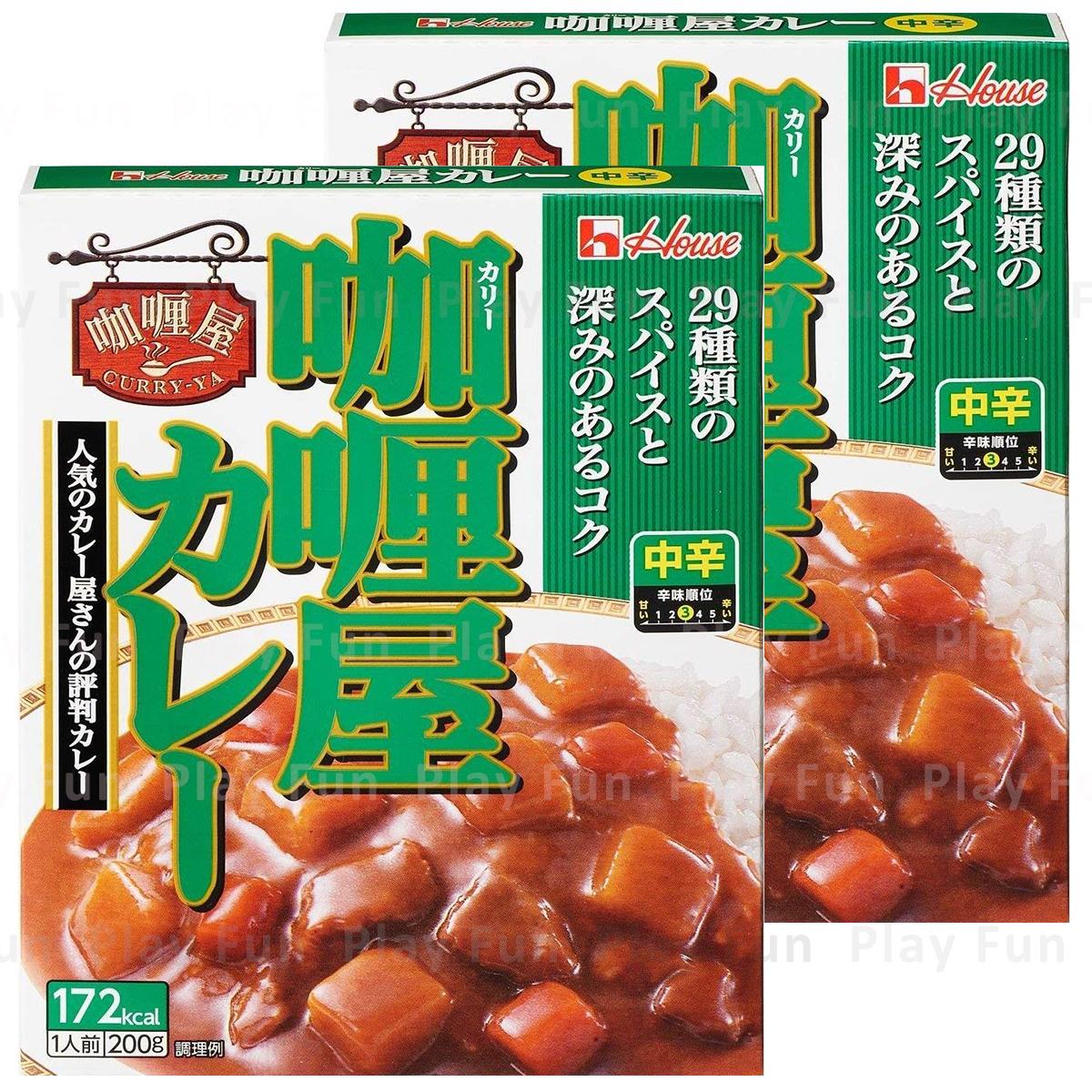 牛肉咖喱 中辛 200g  x 2  (4902402534090_2)