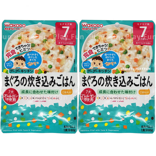 『超值套裝』Tuna Steamed Rice 80g [For 7months old baby] x 2包  (4987244181558_2)