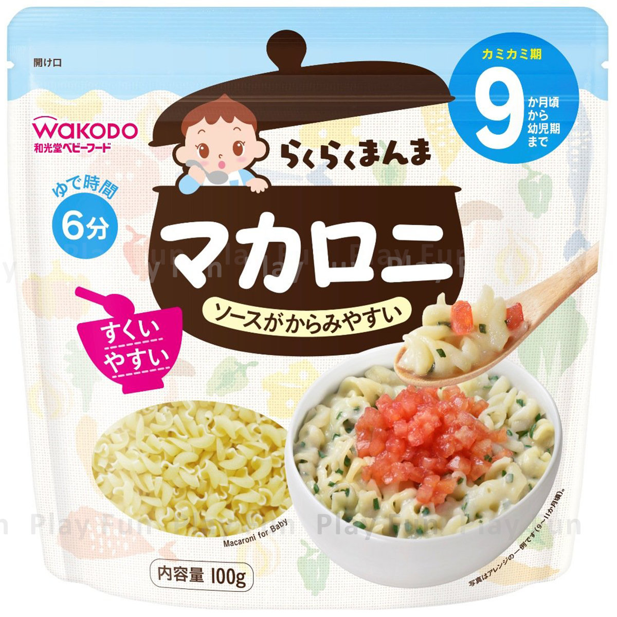 Japanese Macaroni 100g [For 9months old baby]  (4987244185259)