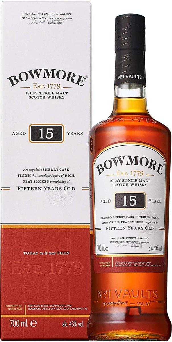 Bowmore 15 Years Single Malt Whisky 700mL  (5010496001455_1)