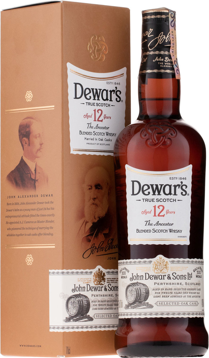 Dewar's 12 Year Whisky 700mL  (5000277002450_1)