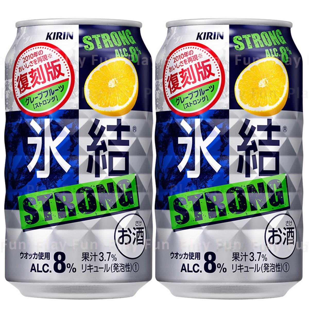 [復刻版] 冰結 Strong 檸檬味果汁酒 ALC.8% 350ml x 2罐  (4901411099798_2)
