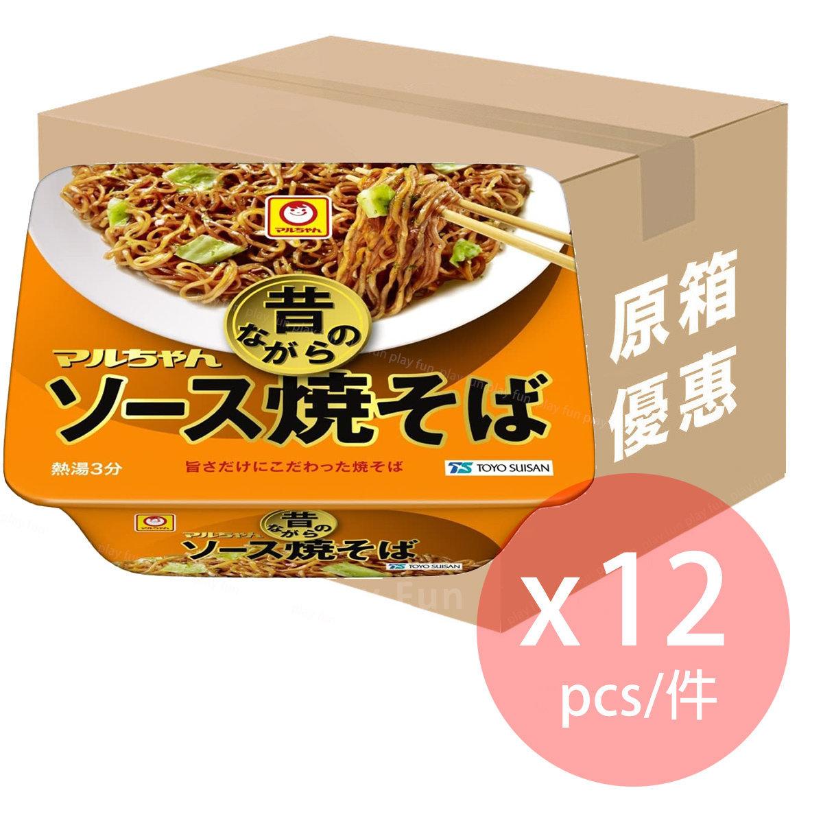 【原箱優惠】昔 日式炒麵 (配醬油蛋黃醬味) x 12盒  (4901990338509_12)