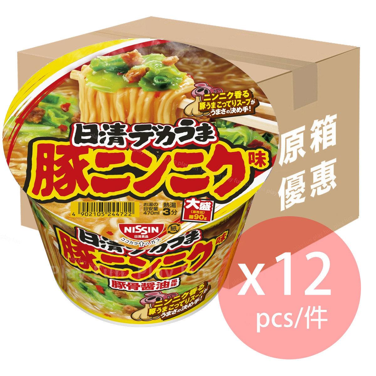 【Full Case】大盛 豚骨蒜香醬油風味拉麵 111g x 12  (4902105256084_12)
