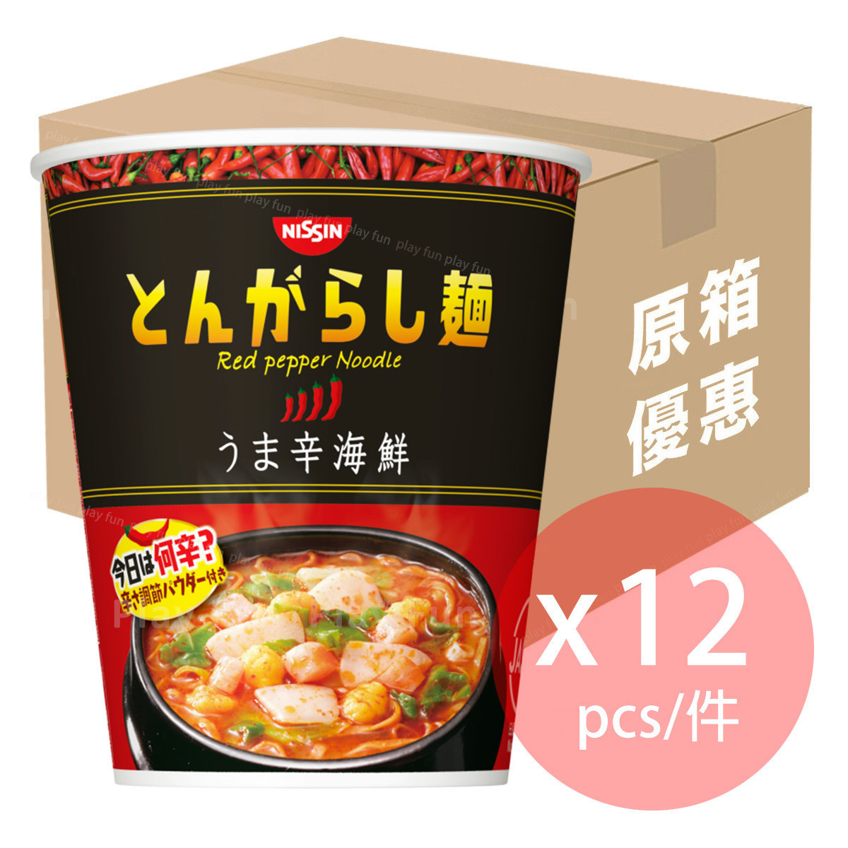 【Full Case】辛海鮮香辣杯麵 64g x 12  (4902105256756_12)