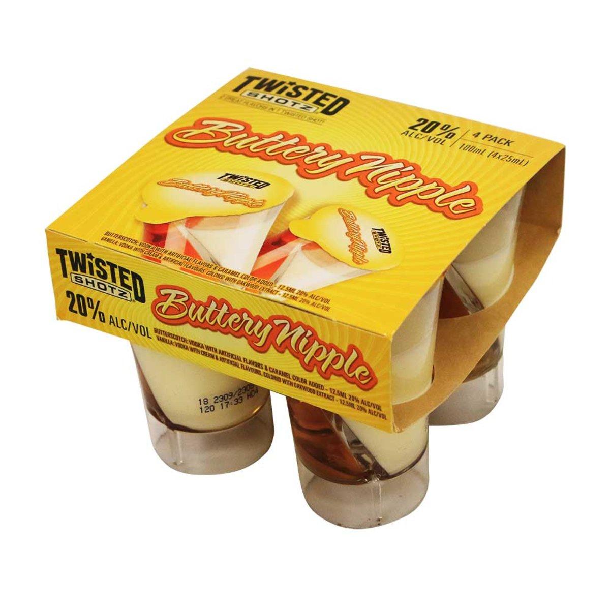 Buttery nipple, 25ml x4
