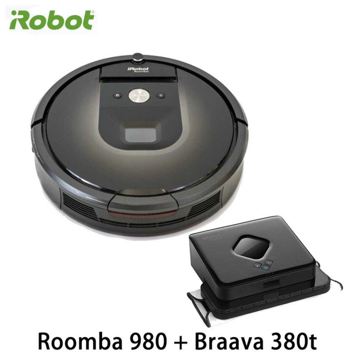 Roomba 980 吸塵機械人 + Braava 380t 拖地機械人【香港行貨】