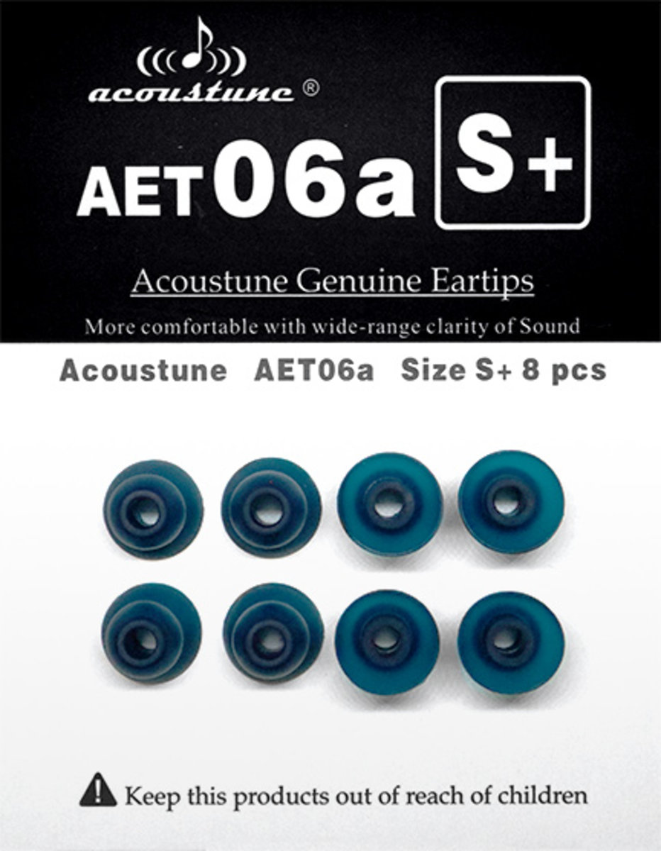 AET06a Upgrade Eartips[S+ Size][4Set with Case]