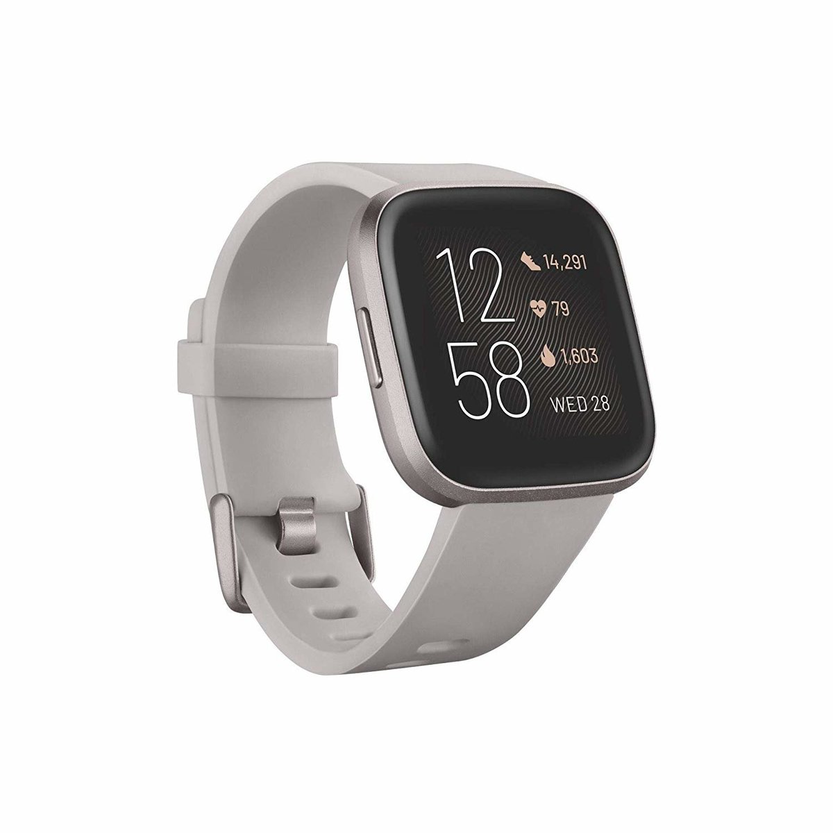 Versa 2 健康運動智慧手錶[石色/霧灰色鋁製材質]