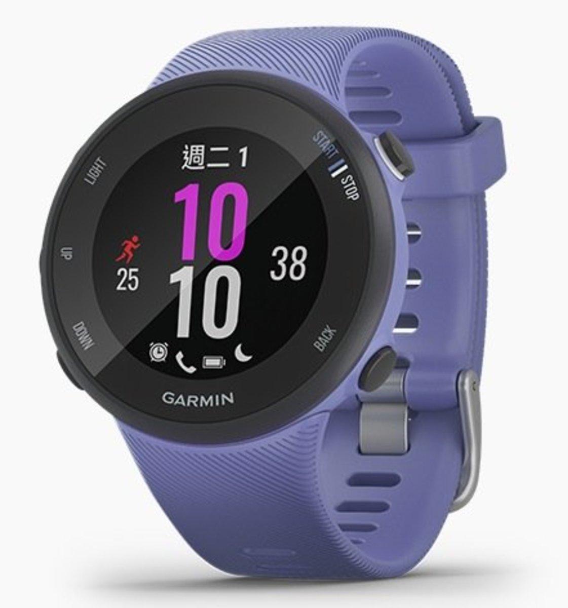 Forerunner 45S GPS 智能跑錶[繁中/英文][薰衣紫色][細碼]