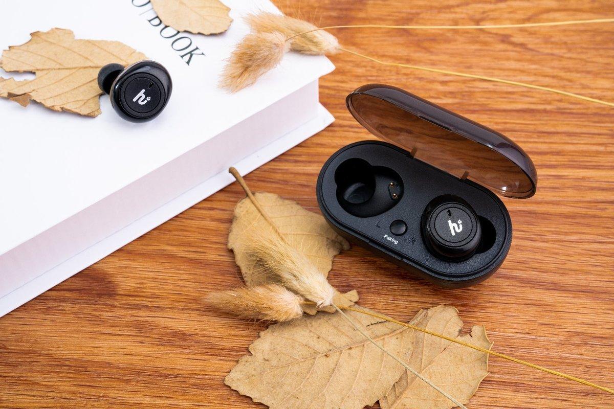 Bluetooth 5.0 True Wireless Earphones[66322][Black]