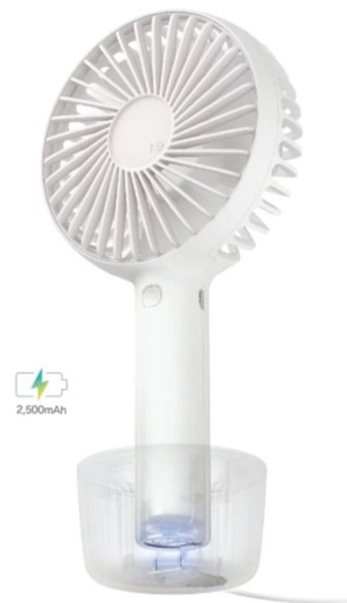 N9 PRO2 Portable Fan with Charging Stand[White]