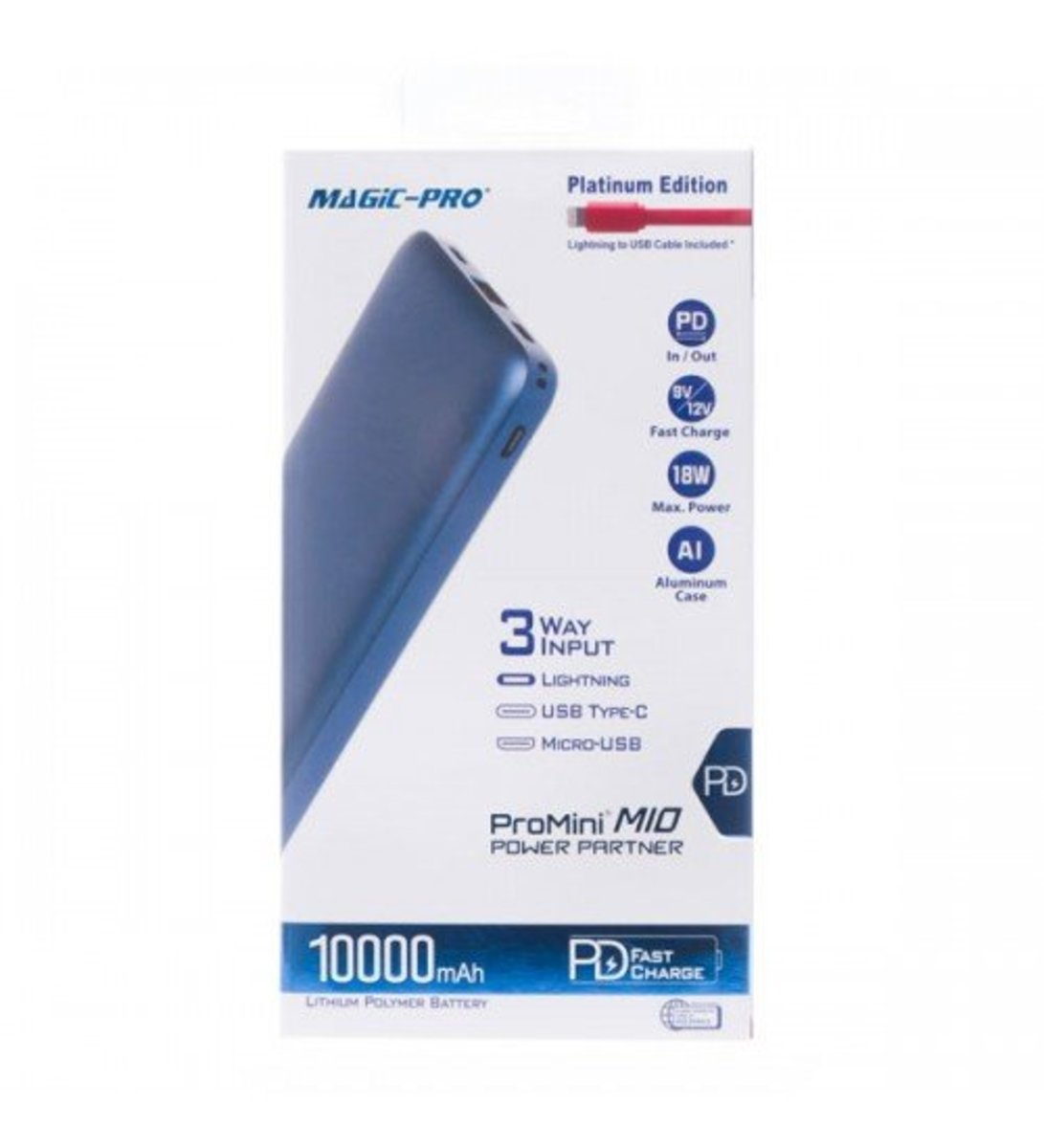 ProMini M10 PD Fast Charge Portable Charger Power Bank[Blue]
