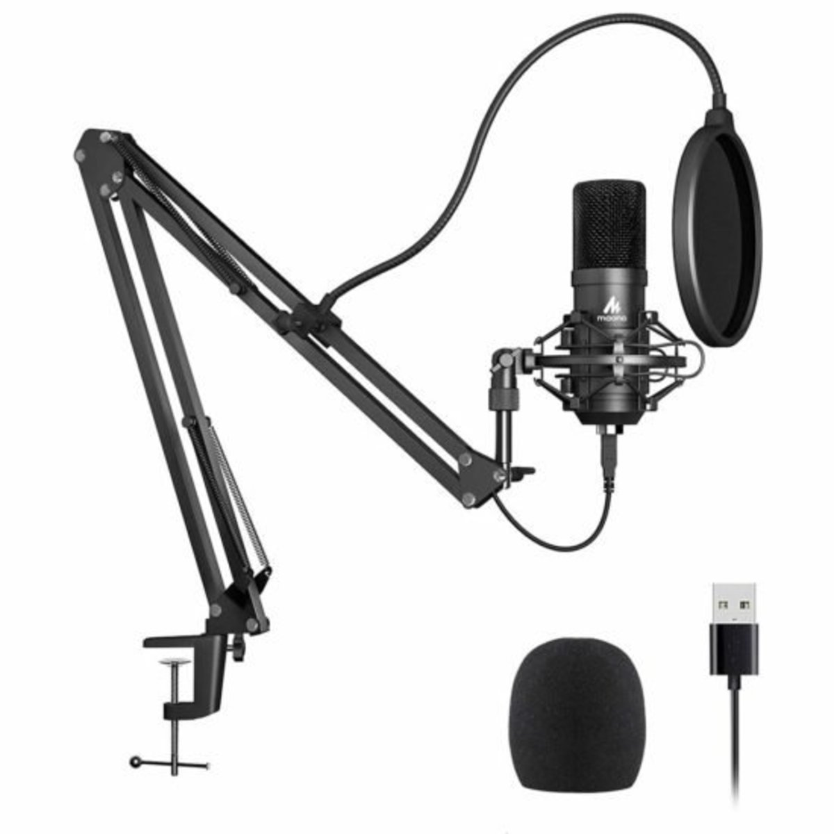 USB Microphone Podcast Kit Studio Set[AU-A04]