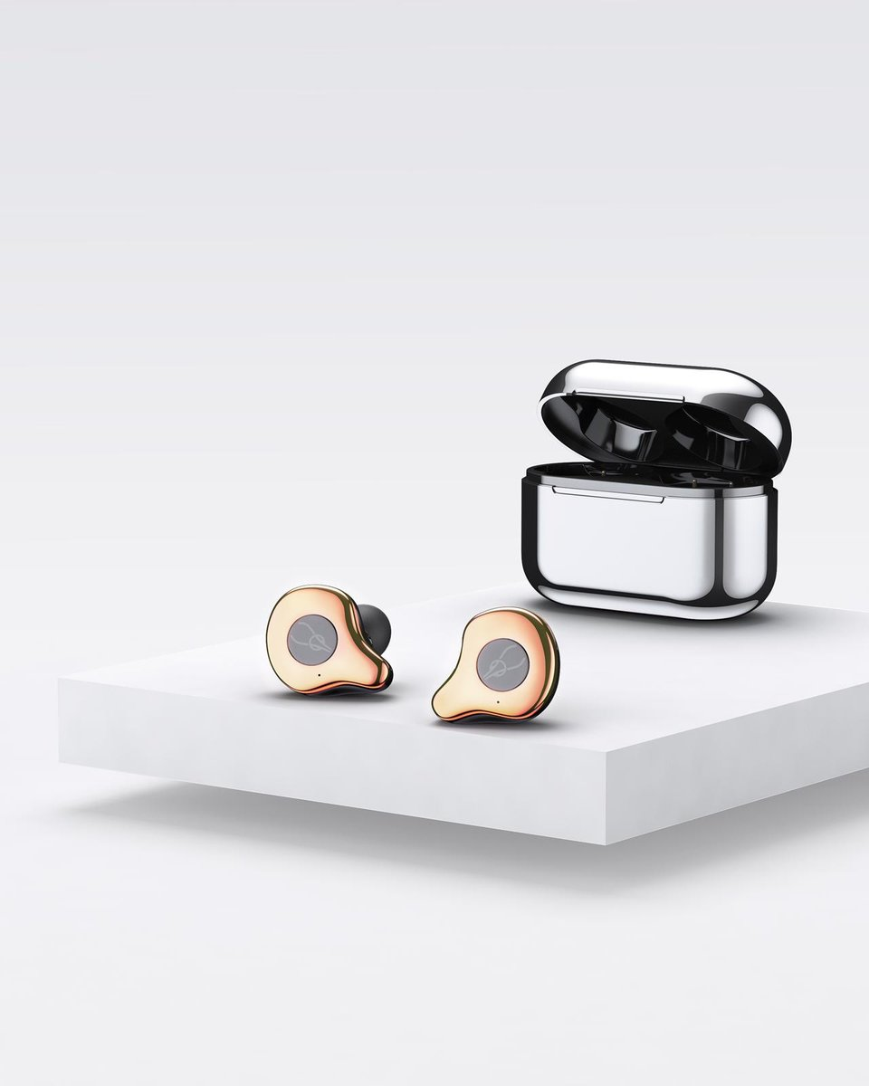 E12 True Wireless Bluetooth 5.0 Waterproof Stereo Earphones[Gold Bronze][New Version]