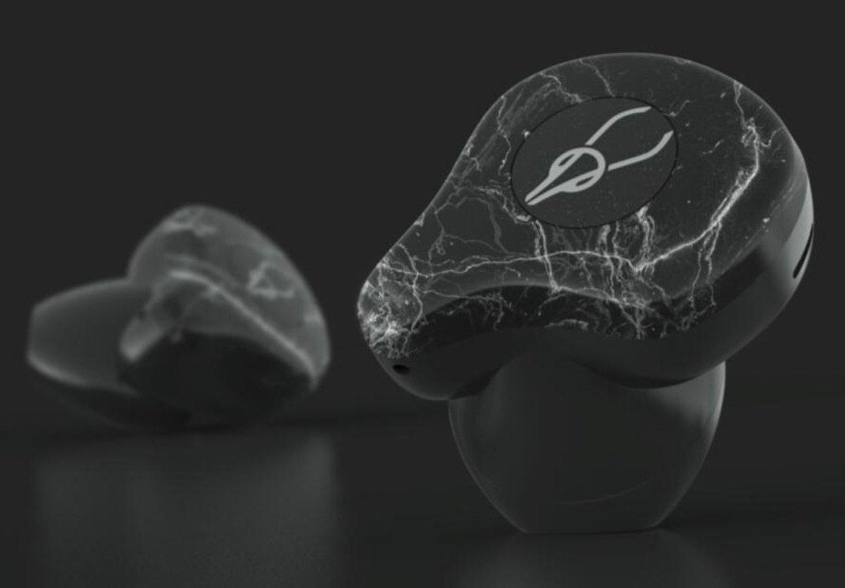 X12 Ultra True Wireless Qualcomm Bluetooth 5.0 aptX/AAC Stereo Earphones[Marble Black]