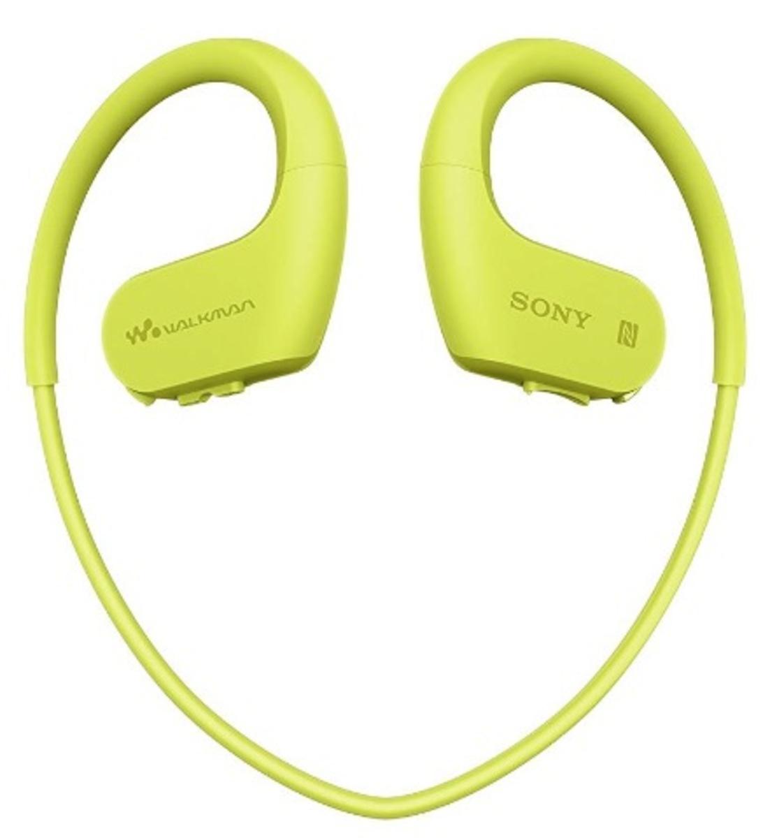 NW-WS623 Waterproof MP3 Player bluetooth Earphones [Lime Green]