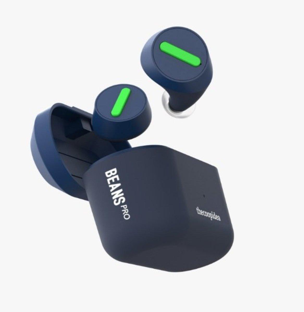 Beans Pro True Wireless Waterproof Earphones[Navy Blue]