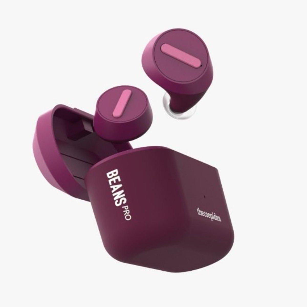 Beans Pro True Wireless Waterproof Earphones[Purple]