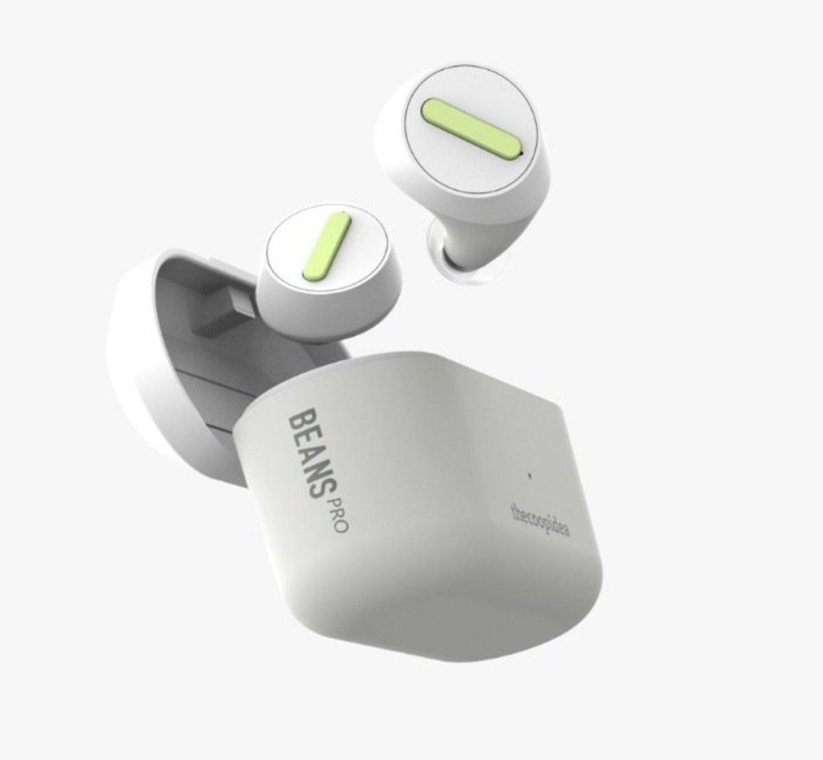 Beans Pro True Wireless Waterproof Earphones[Off White]