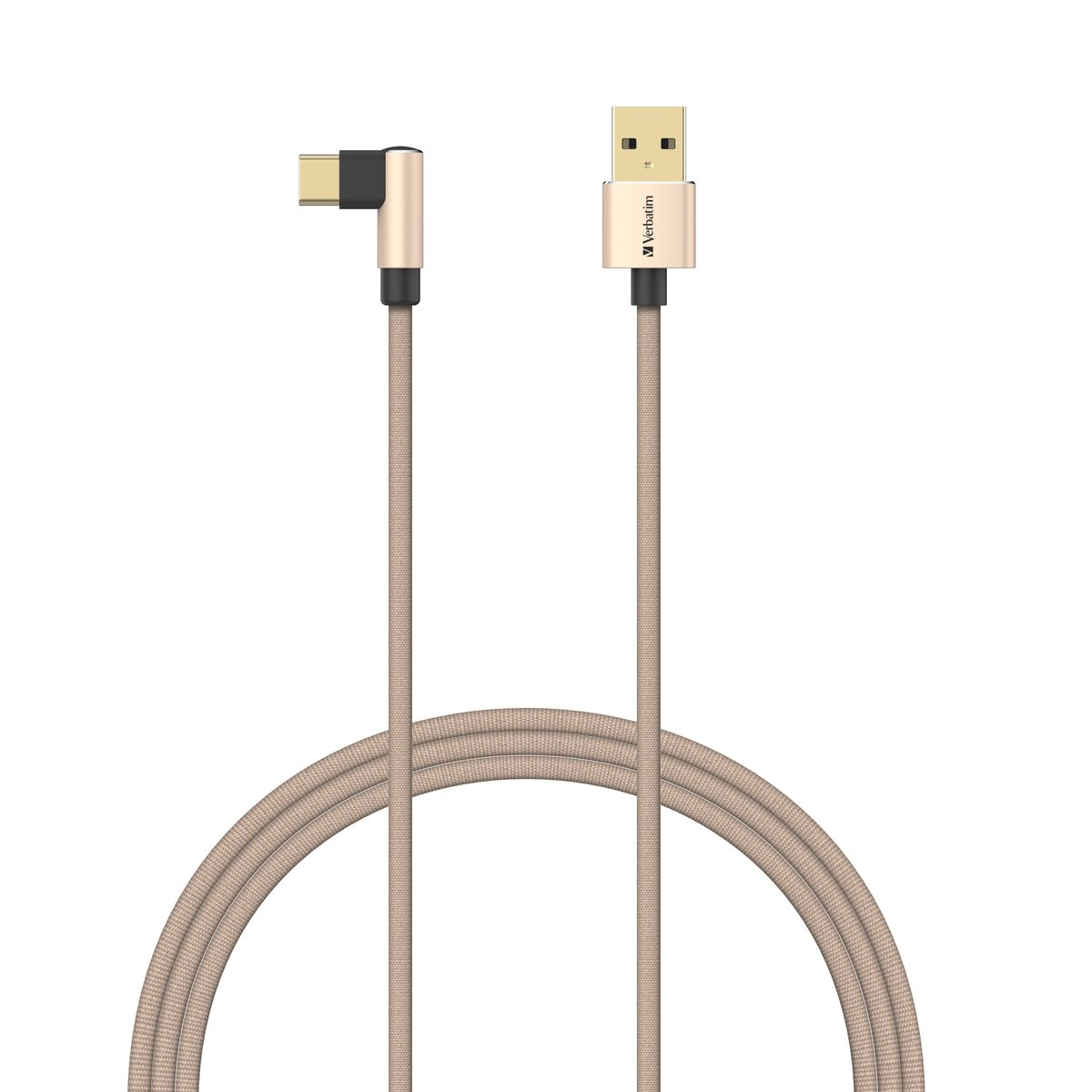 [120cm]L-Shaped Type C to USB-A Cable[66194][Gold]