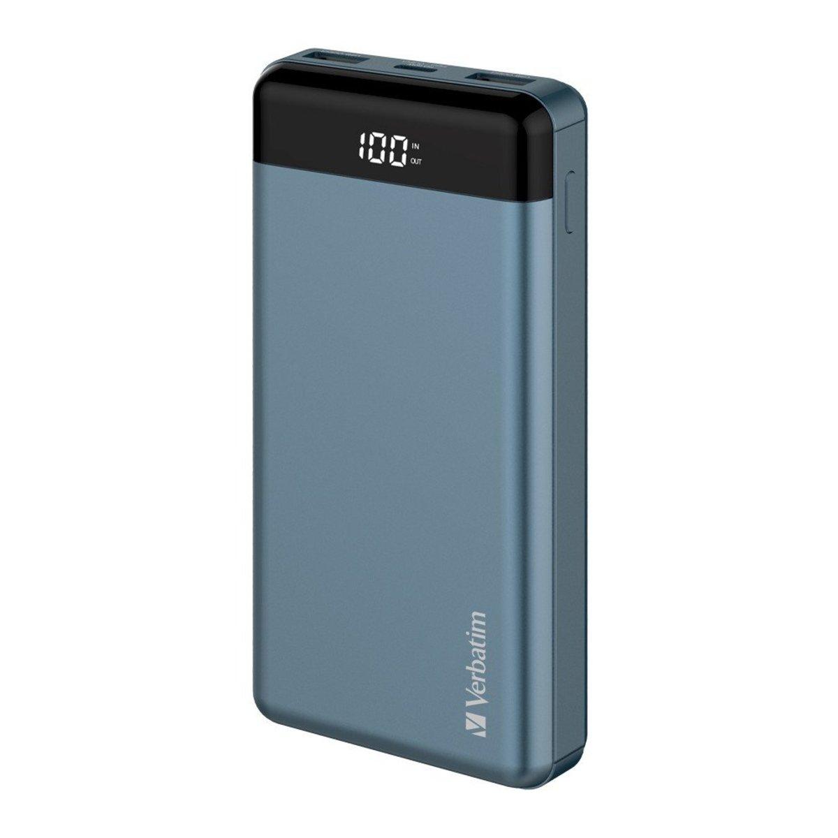 66W PD & QC3.0 Power Bank[66387][Blue][20000mAh]