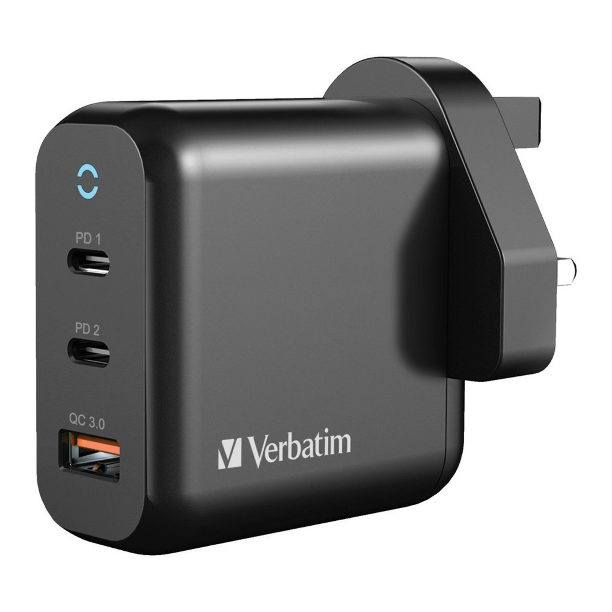 3 Port 65W PD 3.0 & QC 3.0 GaN USB充電器[66520]
