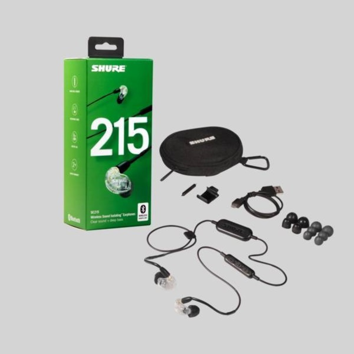 SHURE | SE215 Sound Isolating Bluetooth Earphones with RMCE-BT1