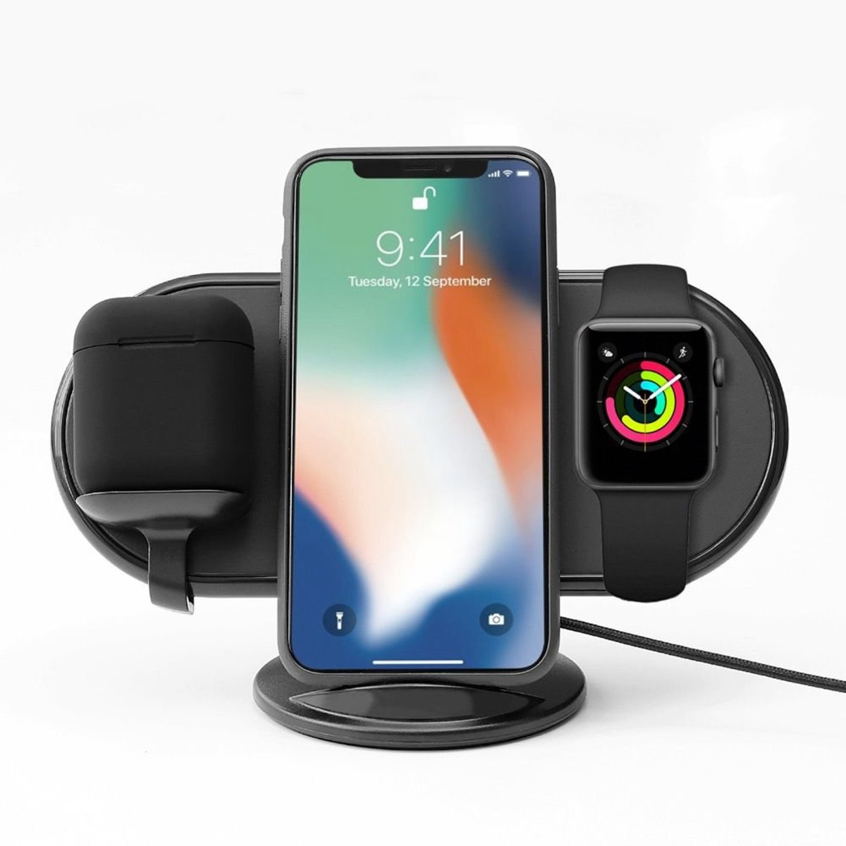 Plux Wireless Charging Stand - Black