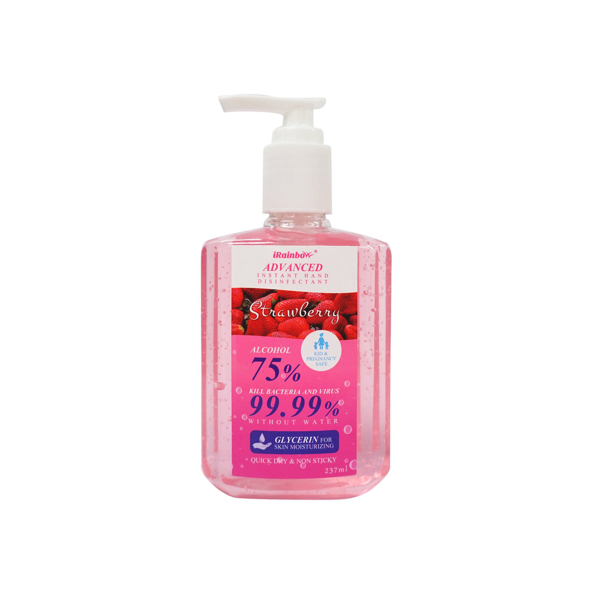 75%Alcohol instant Hand disinfectant - Strawberry (237ml)