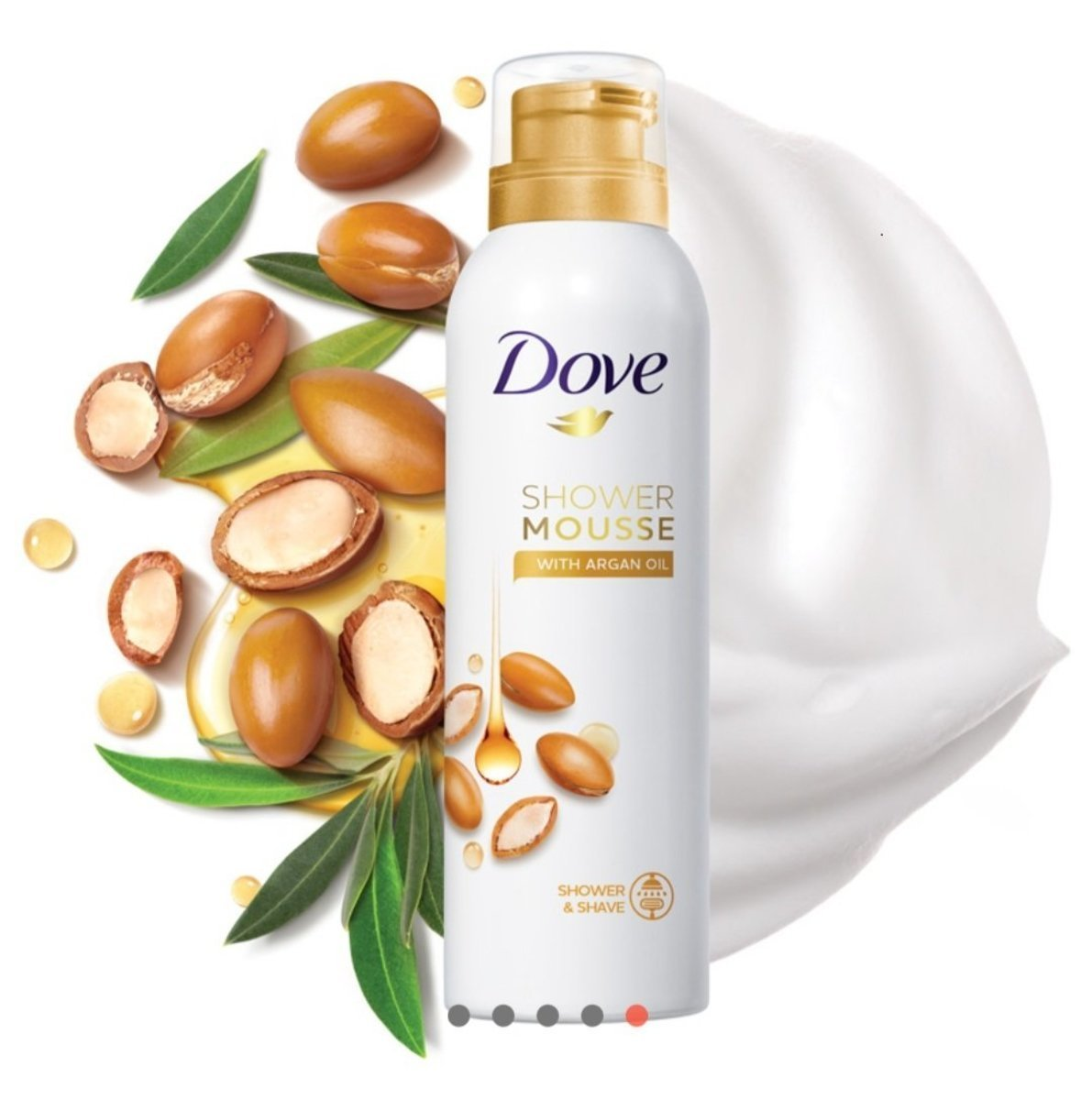 Dove - Shower Mousse with Argan Oil 200ml (Parallel imported products)