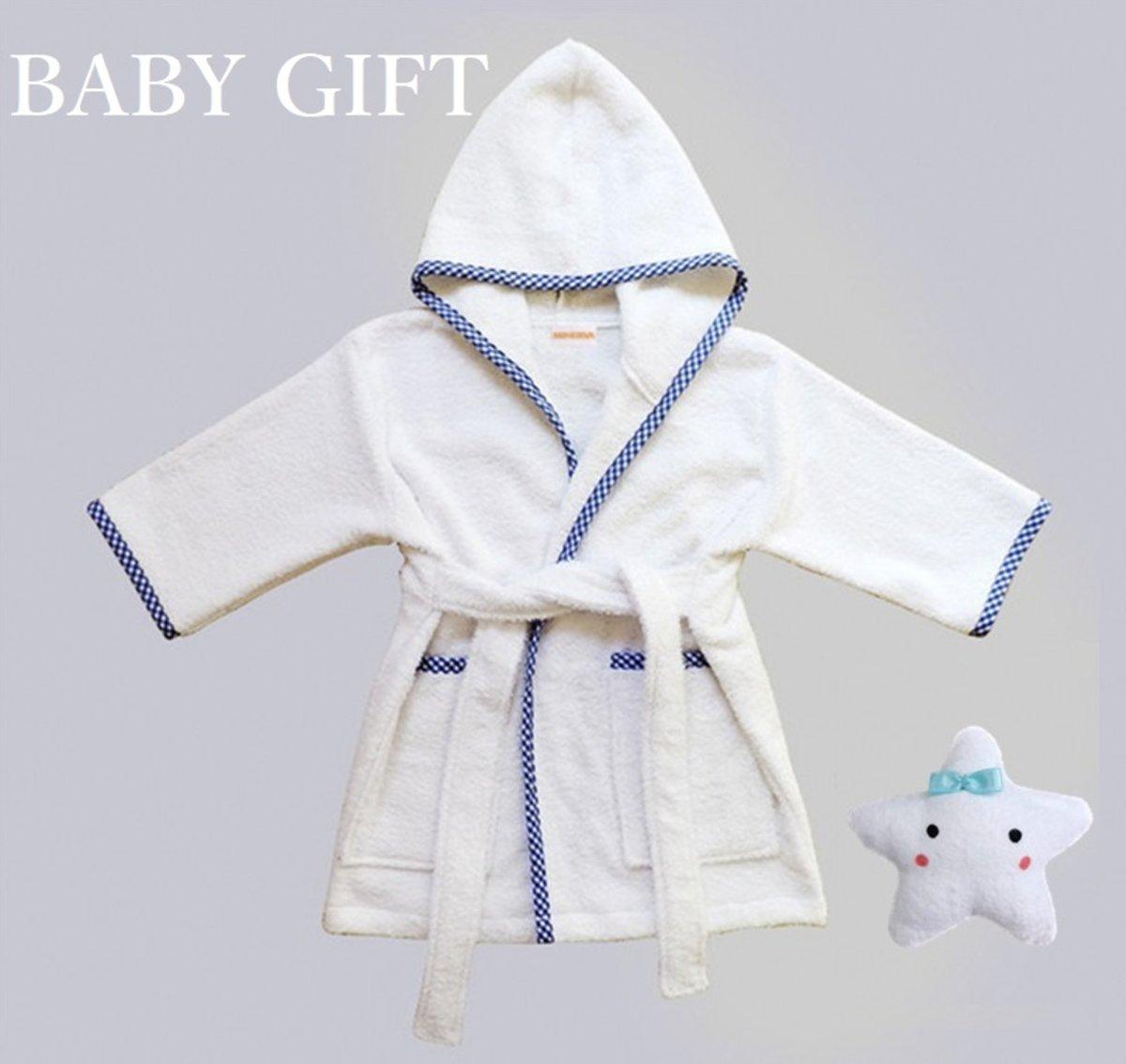 Baby&Kids Prince Bathrobe &Fuku-kun Plush Toy Set (L)