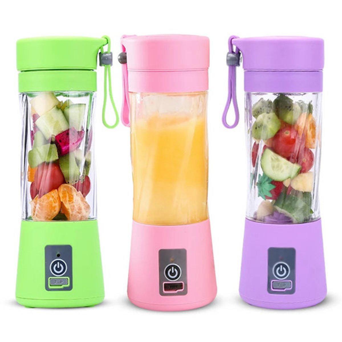 日式多功能USB充電榨汁杯 水果電動果汁攪拌杯