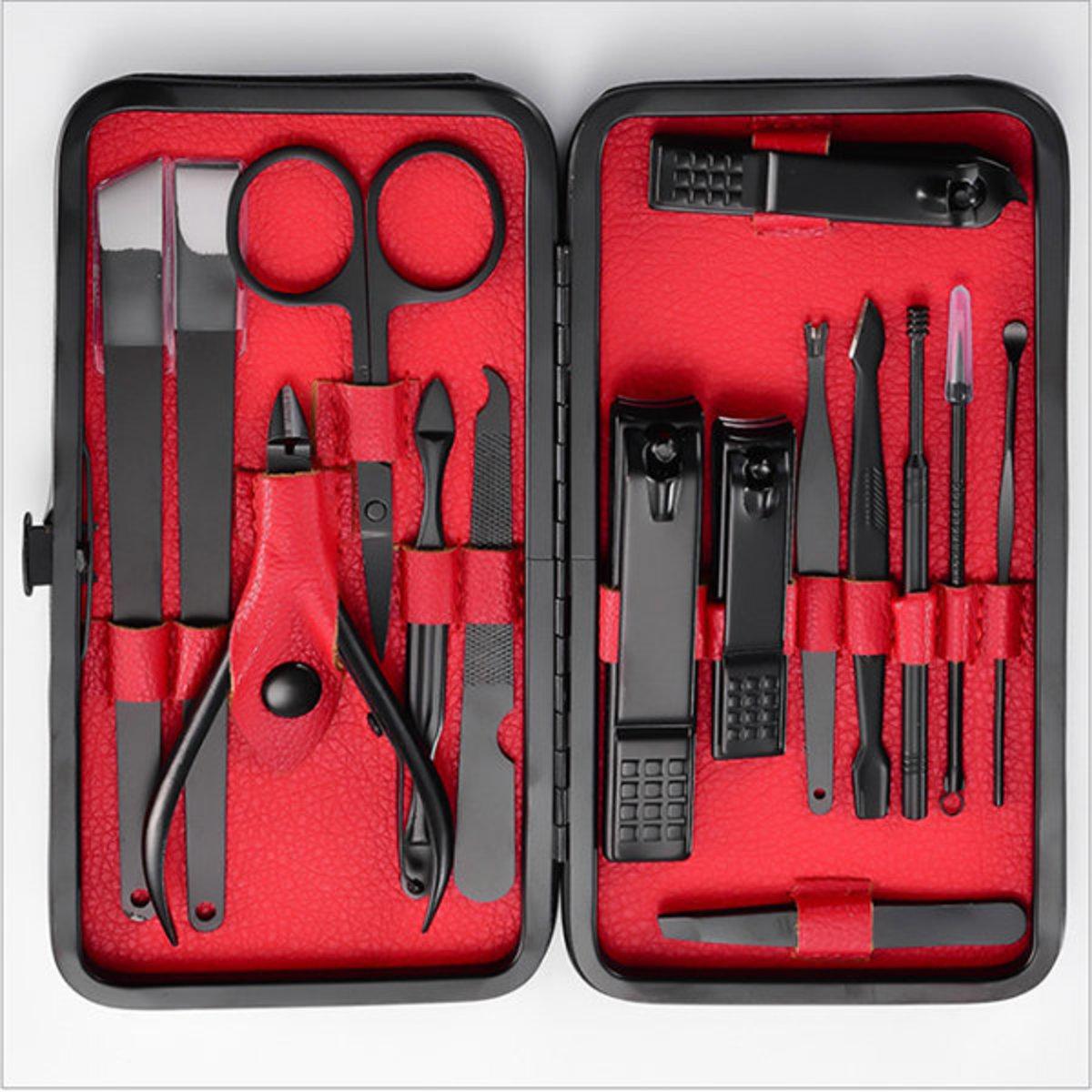 韓國JK剪指甲刀美容修甲工具套裝指甲鉗15件套死皮剪修腳套裝
