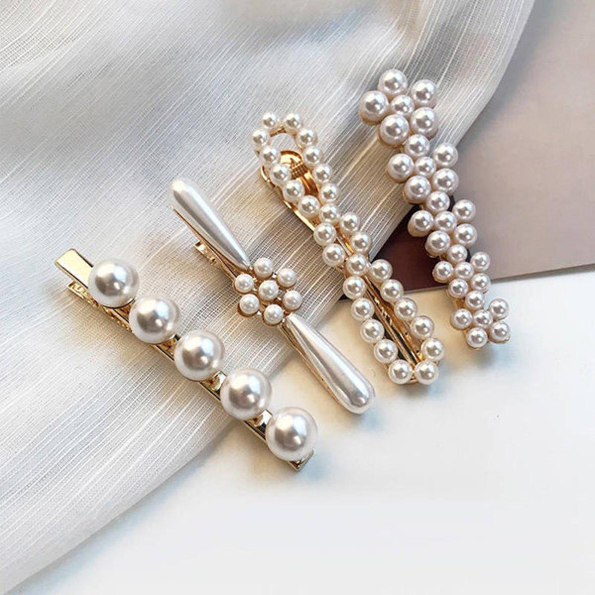 Korea JK Pearl Hairpin Set (4 piece set)