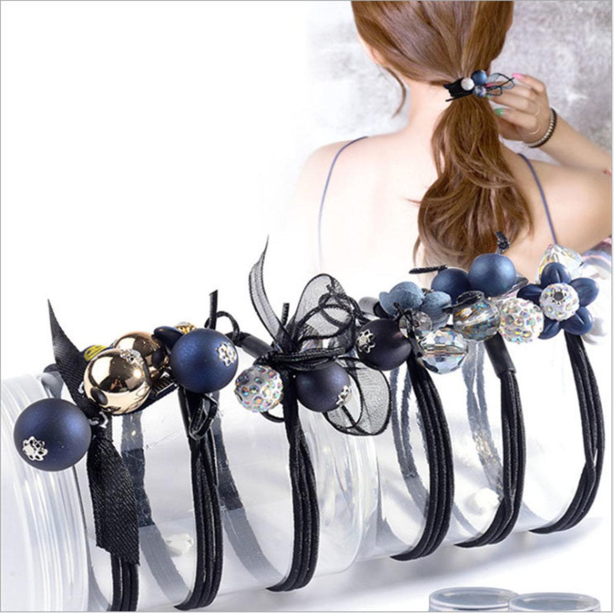 South Korea JK small fresh minimalist women's headband hair ring (boxed 6 random styles)