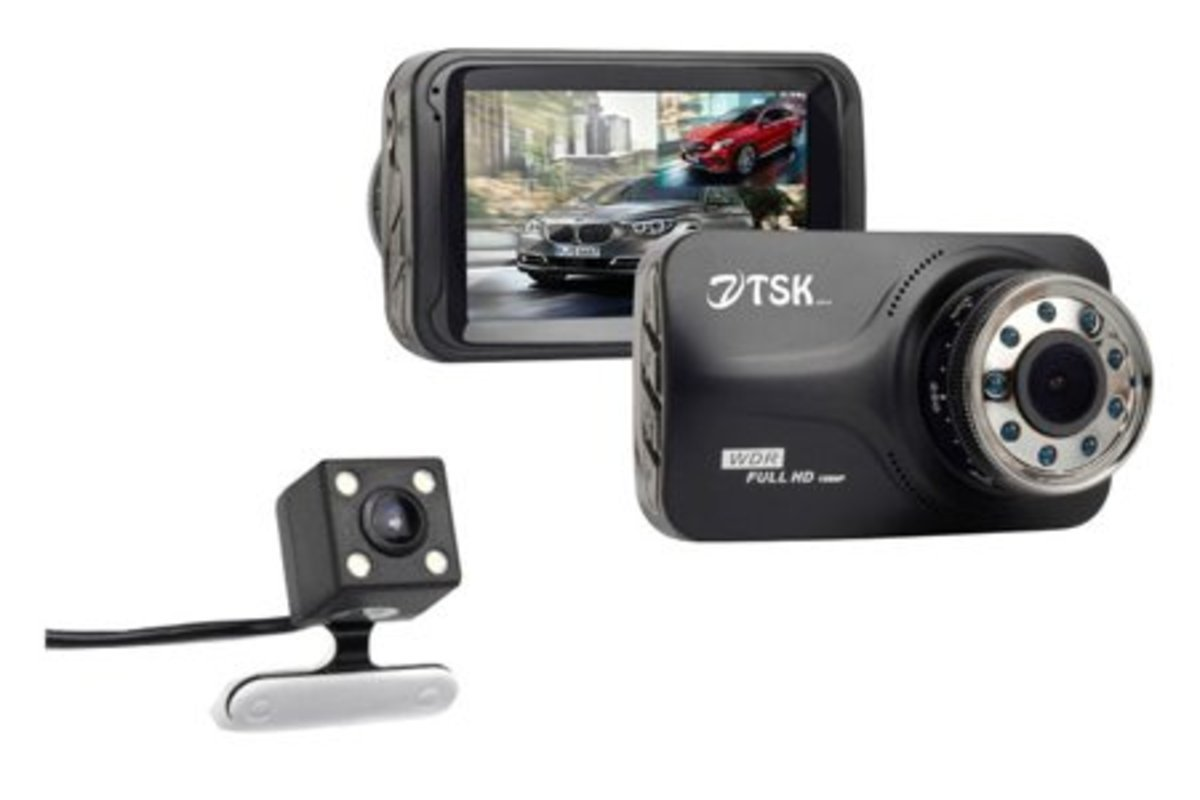C-210 Full HD (front and rear mirror) driving recorder