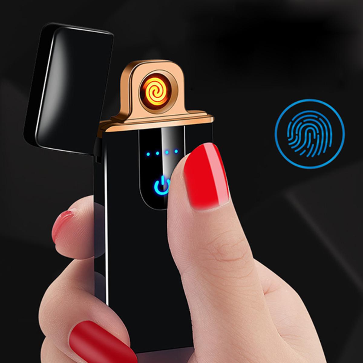 ultra-thin fingerprint induction windproof tungsten wire lighter