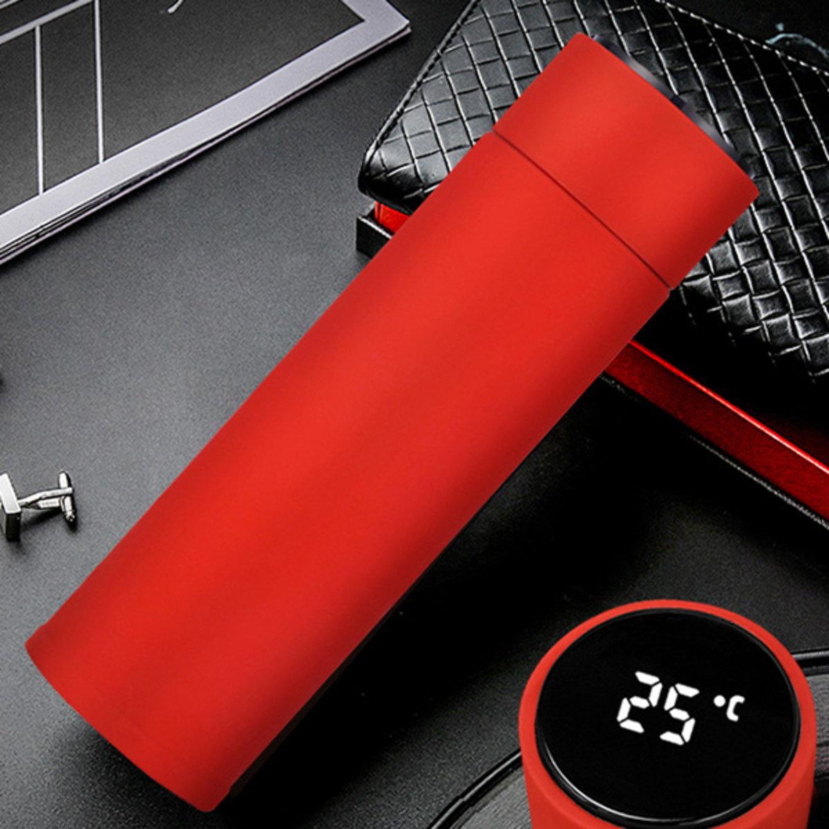 [瘋狂MORE Dollar]LED觸摸溫度顯示316不鏽鋼智能保溫杯